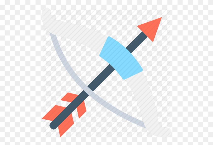 Archery, Archery Arrow, Archery Bow, Hunting, Weapon Icon - Bow Arrow PNG