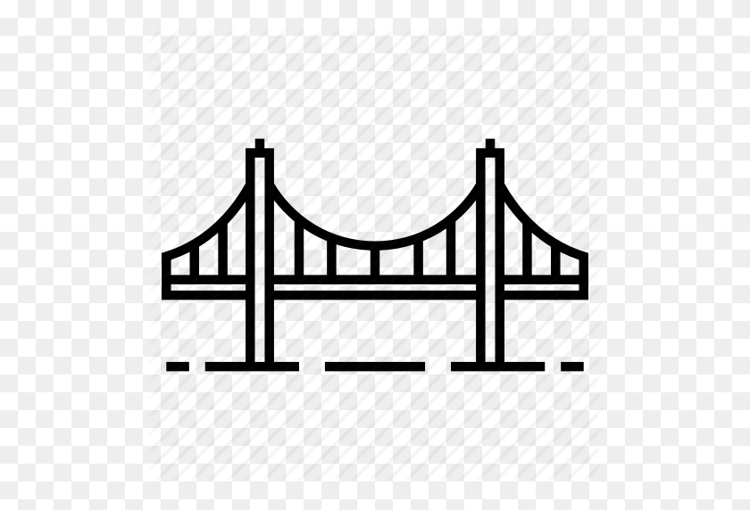 Architecture, Cable, Golden Gate Bridge, Landmark, Structure - Golden Gate Bridge PNG