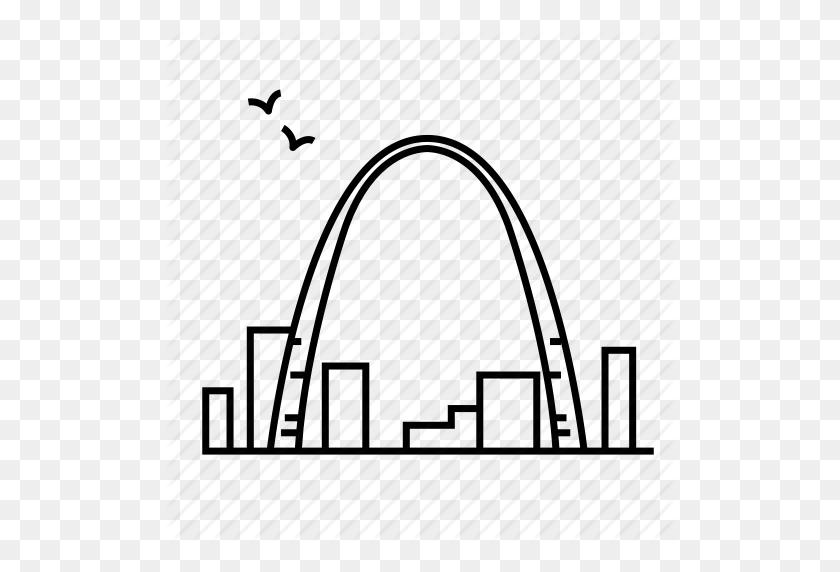Architecture, Gateway Arch, Landmark, Missouri, Monument, Travel Icon - Missouri Outline Clipart