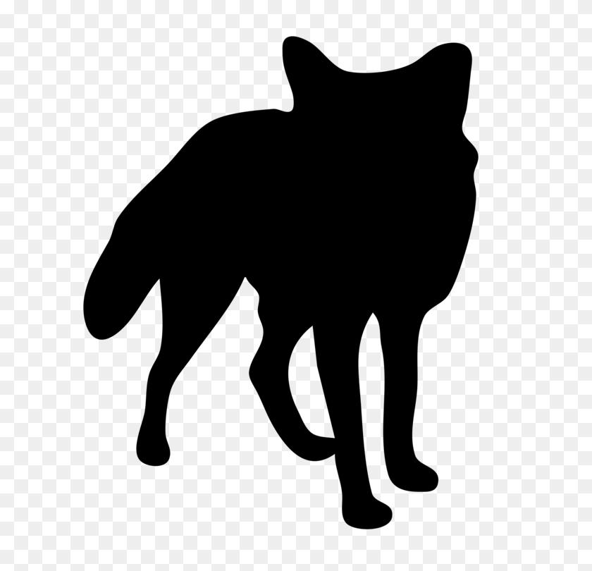 Arctic Fox Silver Fox Red Fox Silhouette - Red Fox Clipart