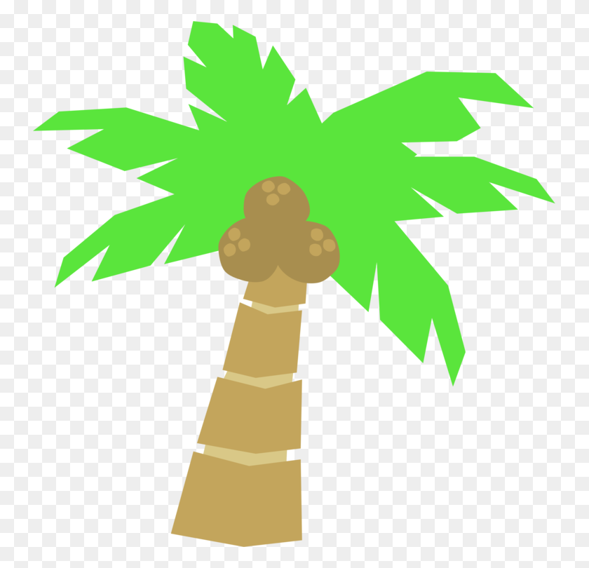 Arecaceae Tree Coconut Computer Icons Download - Palm Tree Beach Clip Art