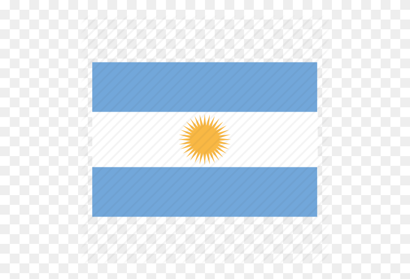 512x512 Argentina, Argentina Flag, Country, Flag Icon - Argentina Flag PNG