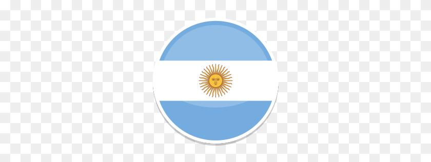 256x256 Argentina Icon Round World Flags Iconset Custom Icon Design - Argentina Flag PNG