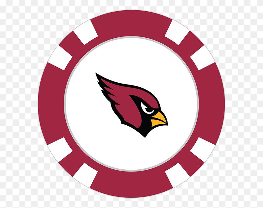 600x602 Arizona Cardinals Poker Chip Ball Marker - Arizona Cardinals Logo PNG