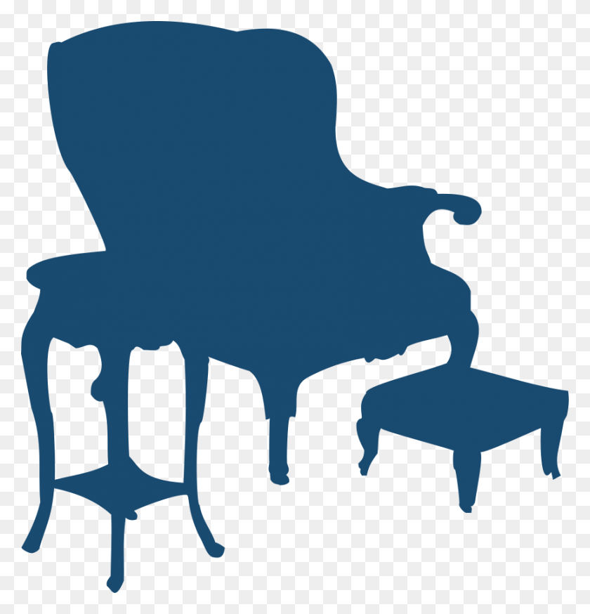 862x900 Armchair And Table Png Clip Arts For Web - Table Clipart PNG