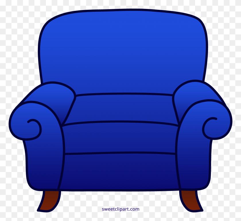 4966x4527 Armchair Blue Clipart - Armchair Clipart