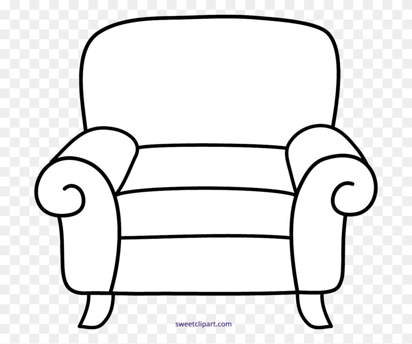 700x641 Armchair Line Art Clipart - Armchair Clipart