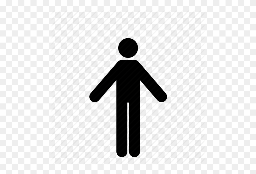 Arms Out, Man, People, Person, Stick Figure Icon - People Standing PNG