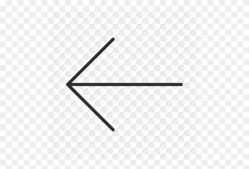 Arrow, Back, Left, Previous, Return, Thin Arrow, Thin Rounded Line - Thin Arrow PNG