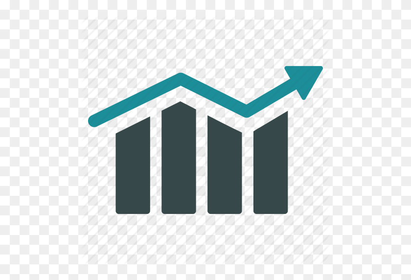 Arrow, Bar Chart, Diagram, Graph, Growth, Progress, Trend Icon - Bar Graph PNG