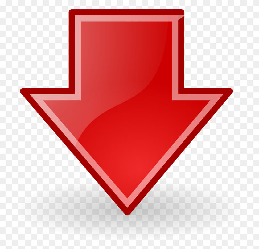 750x750 Arrow Computer Icons Download Red Symbol - Arrow Sign PNG