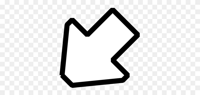 340x340 Arrow Computer Icons Symbol Pointer Sign - Arrow Sign Clipart