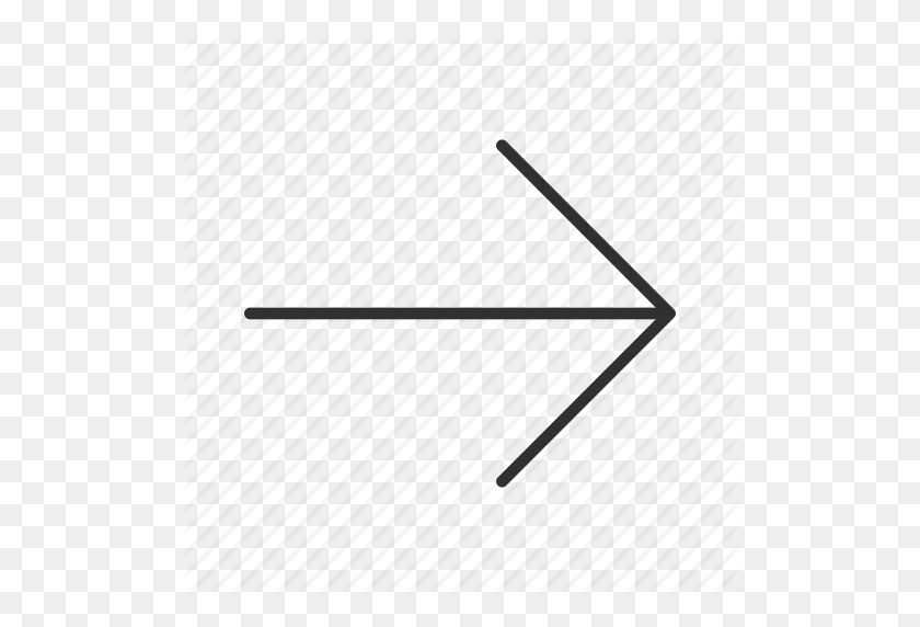 Arrow, Continue, Next, Proceed, Right, Thin Arrow, Thin Rounded - Thin Arrow PNG