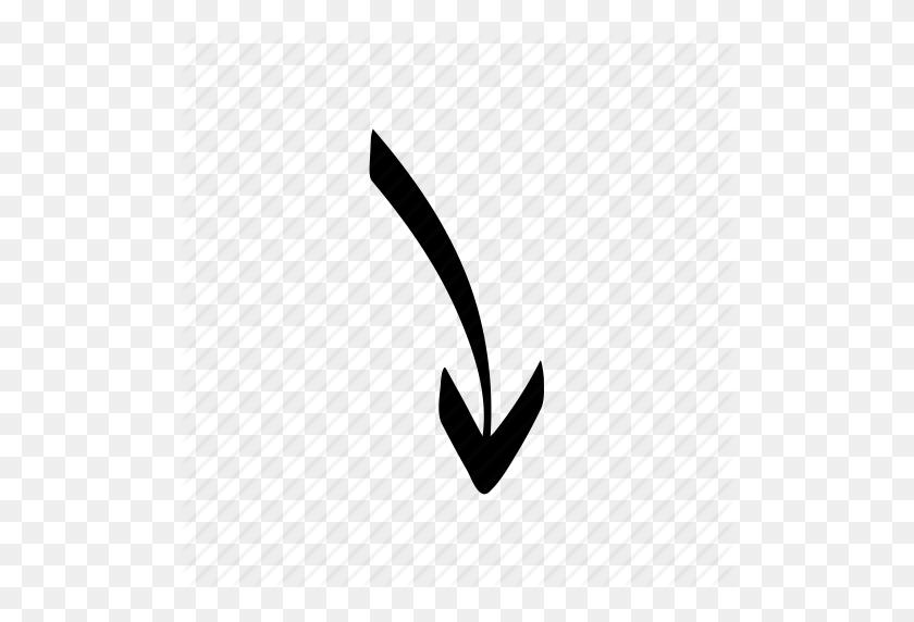 Arrow, Direction, Doodle, Drawn, Hand, Handdrawn, Sketch Icon - Hand Drawn Arrow PNG