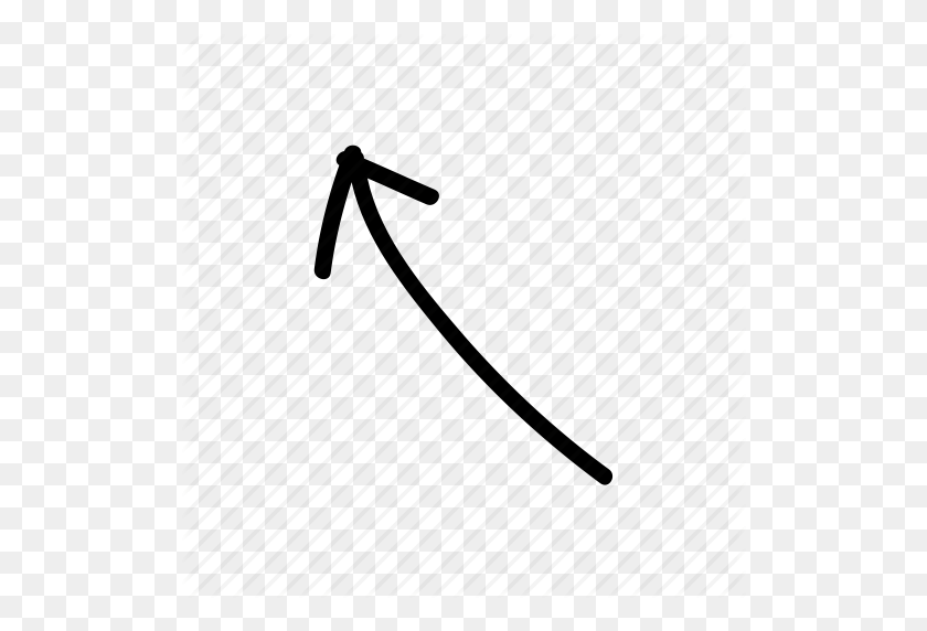 Arrow, Doodle, Drawing, Drawn, Hand, Sketch, Sketchy Icon - Hand Drawing PNG