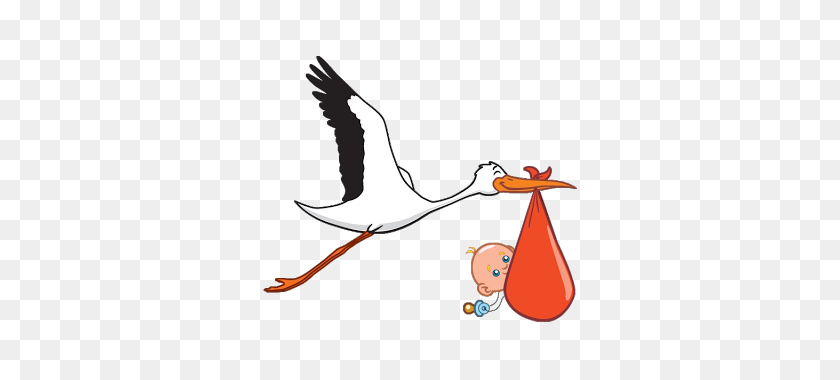 Art Baby, Stork And Baby Boy - Stork And Baby Clipart