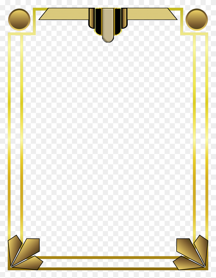1746x2292 Art Deco Border Icons Png - Art Deco PNG