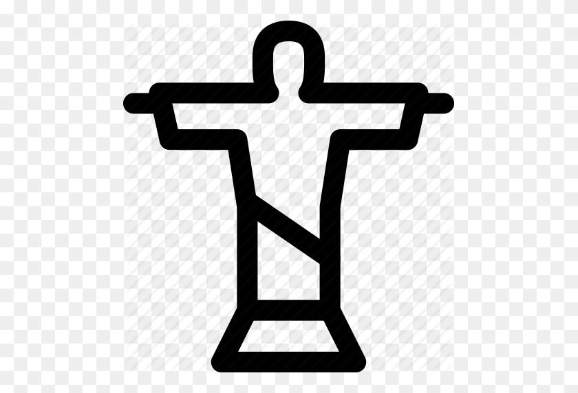 481x512 Art Deco, Brazil, Christ, Jesus, Redeemer, Rio De Janeiro, Statue Icon - Art Deco Clip Art
