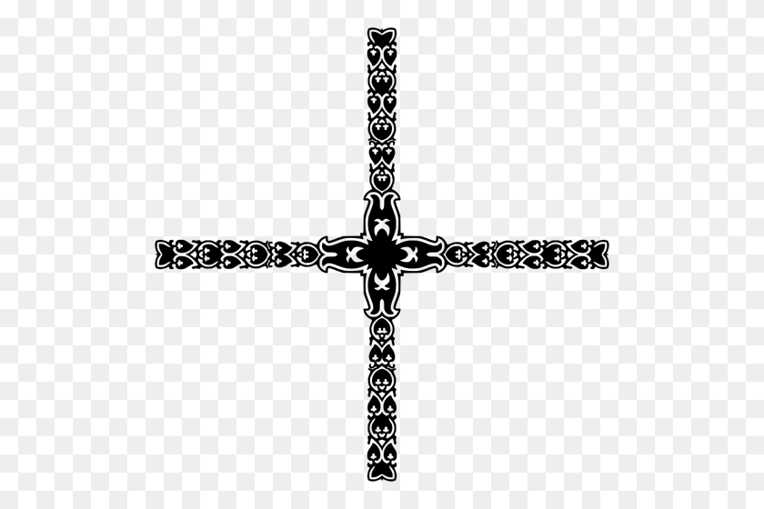 Art Deco Crucifix - Art Deco Clip Art