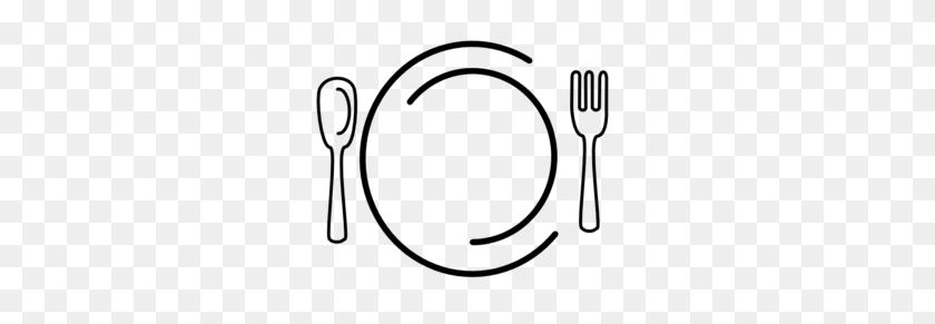 299x231 Art Dinner Plates - Lunch Clipart Black And White