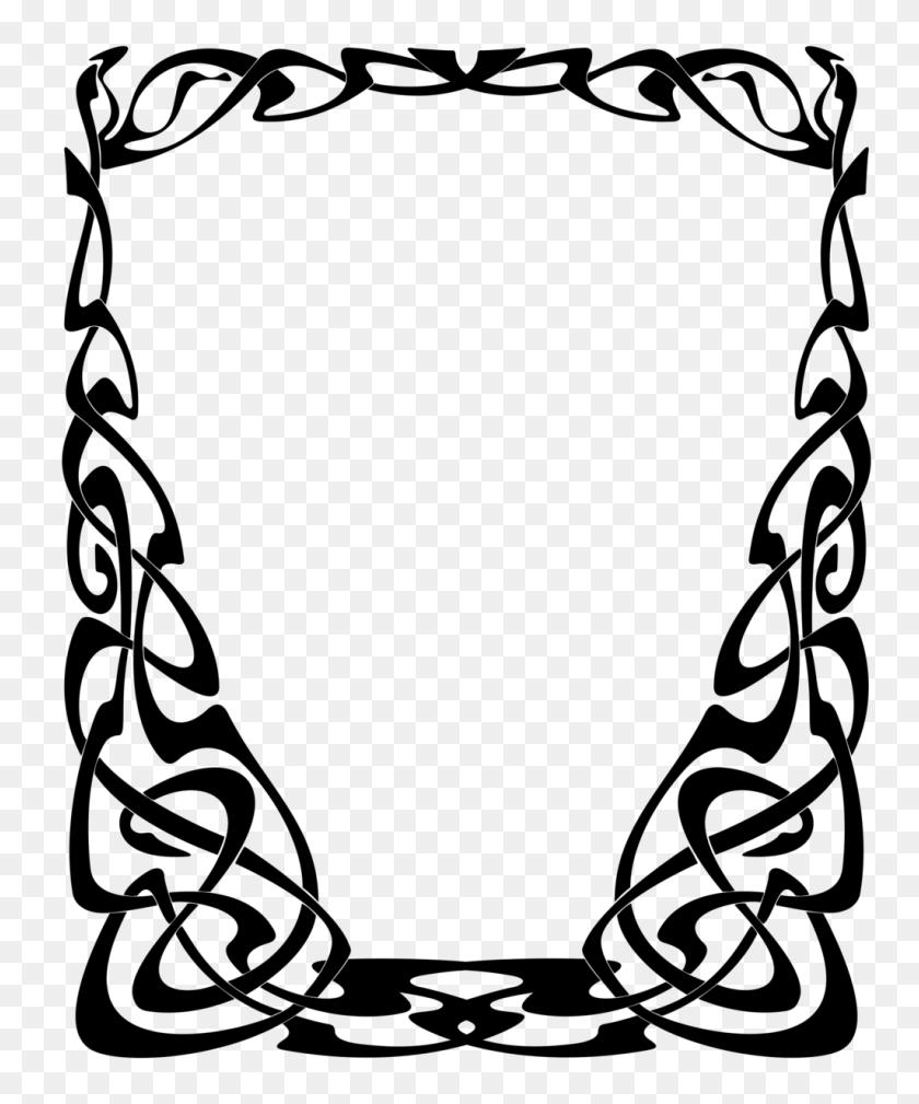 1024x1246 Art Nouveau Border In Encouraging Free Download On Mbtskoudsalg - Art Deco Clip Art
