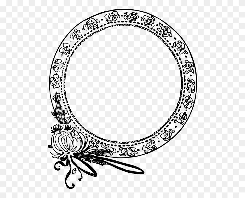 512x619 Art Nouveau Circle Drawing - Art Nouveau Clipart