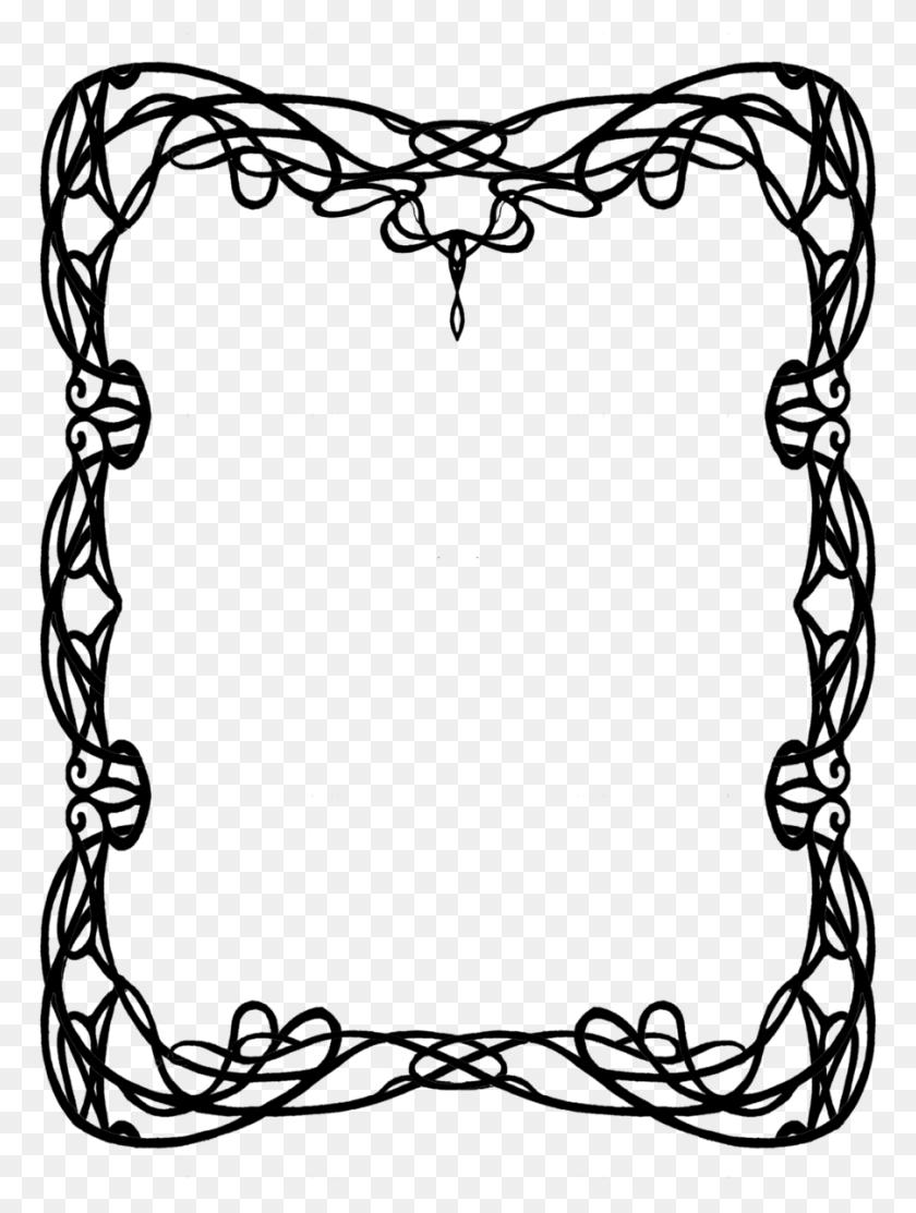 900x1215 Art Nouveau Clipart Look At Art Nouveau Clip Art Images - Mermaid Black And White Clipart