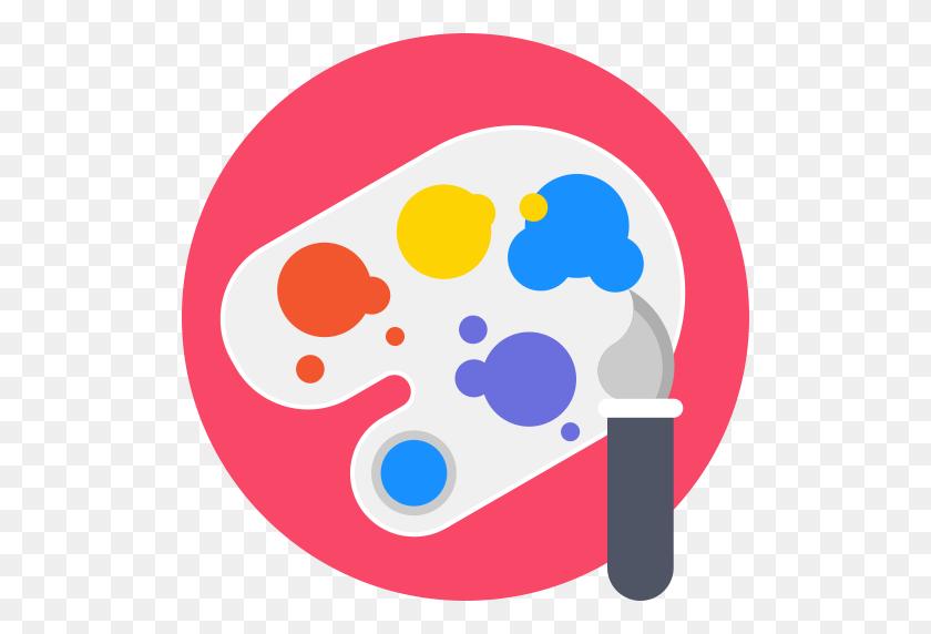 512x512 Art, Painting, Painter, Painting Roller, Paint Roll, Art - Artist Palette Clipart