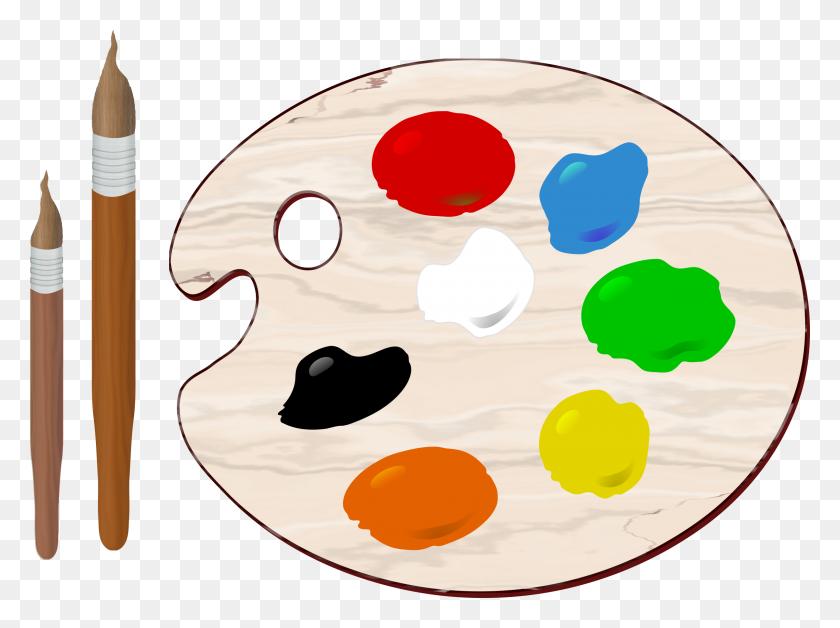 2400x1750 Art Palette Clipart Transparent - Art Palette Clipart