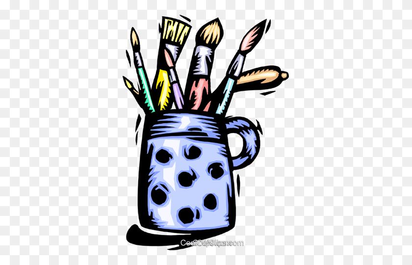 339x480 Art Supplies Royalty Free Vector Clip Art Illustration - Art Supplies Clipart