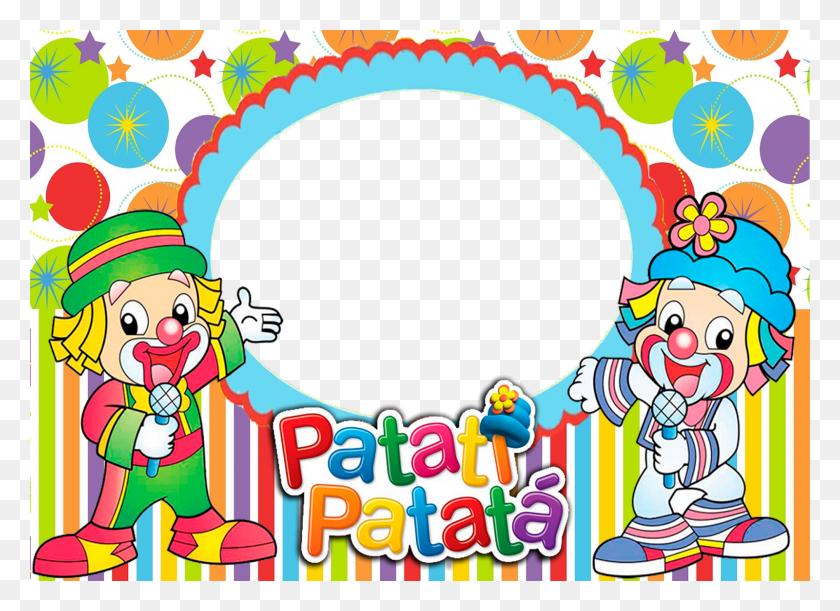 Artes Da Festa Molduras Do Circo E Patati Patata - Molduras PNG Infantil