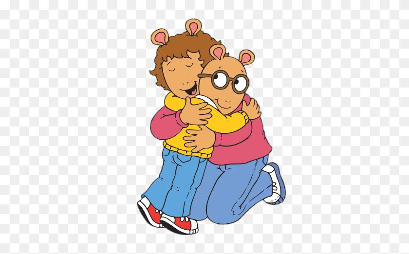 386x462 Arthur Read Hugging His Mum Transparent Png - Arthur PNG