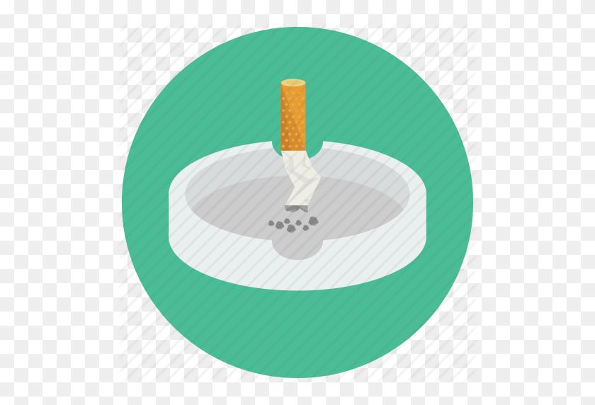 512x512 Ashtray, Cigarette, Out, Put, Smoking Icon - Ashtray PNG