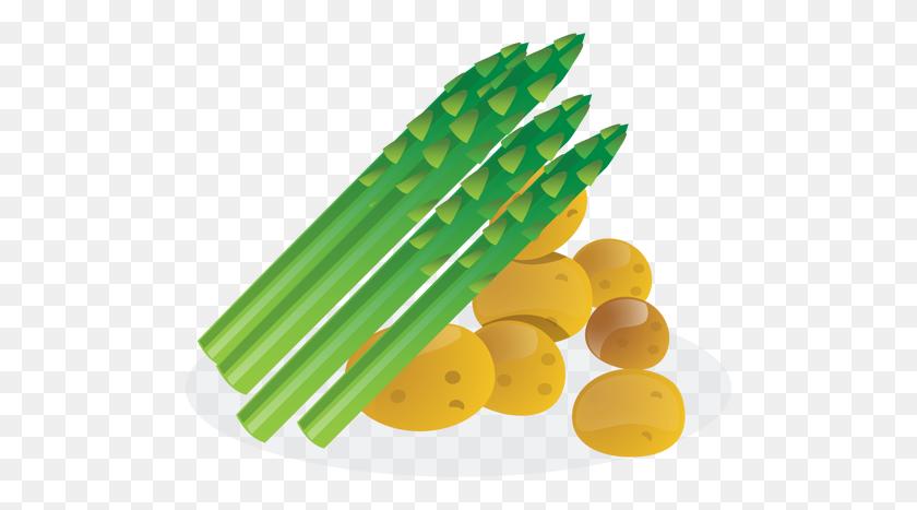 500x407 Asparagus And Potaoes - Asparagus PNG