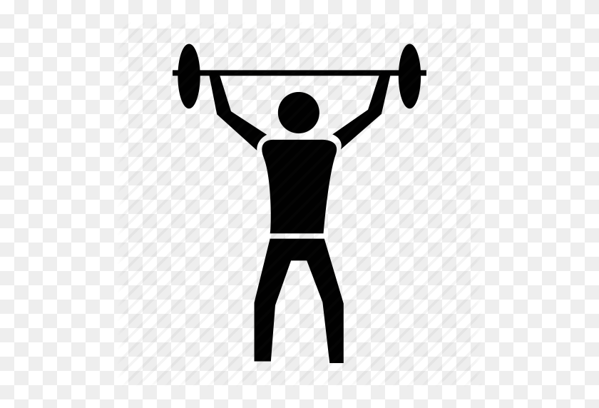 Athletics, Gym, Sports, Weight Lifting, Weightlifting Icon - Weight Lifting Clipart
