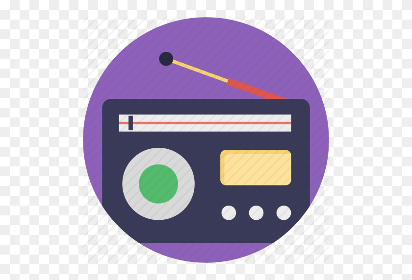 Audio Broadcasting, Fm Radio, Radio, Radio Receiver, Vintage Radio - Radio Icon PNG