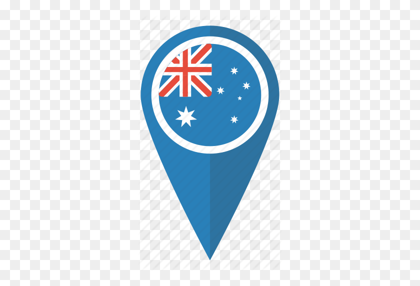 Aussie, Australia, Flag, Location, Map, Pin, Pointer Icon - Australian Flag Clip Art