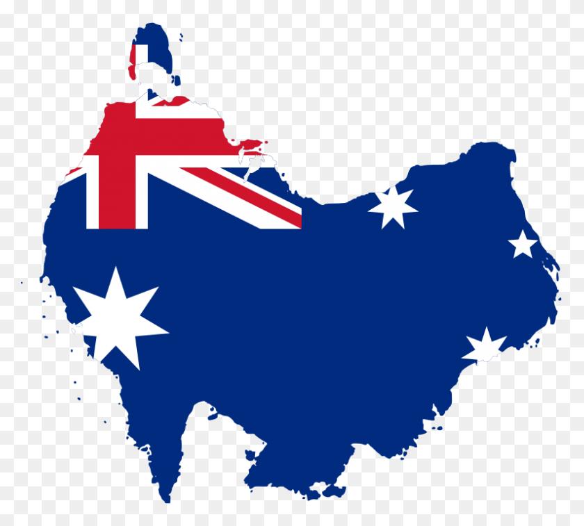 Australia Flag Map South - Australian Flag Clip Art