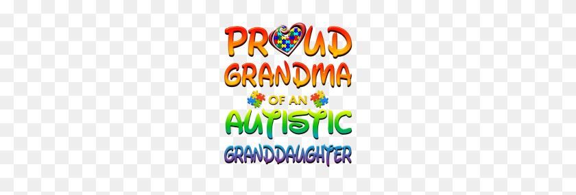 190x225 Autism Awareness Proud Grandma Of Granddaughter - Autism Ribbon Clip Art