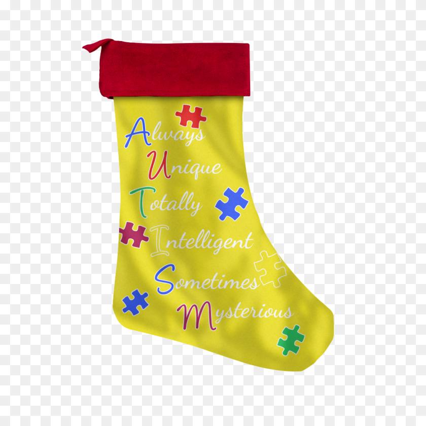 Autism Holiday Christmas Stockings Autism Awareness America - Christmas Stockings PNG