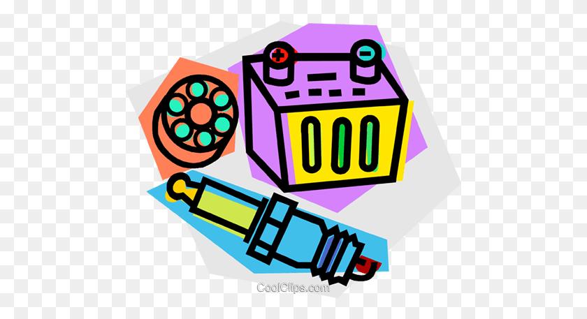 480x397 Automotive Part Royalty Free Vector Clip Art Illustration - Part Clipart