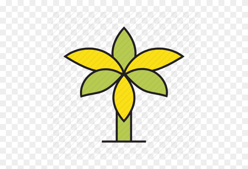 Autumn, Autumn Tree, Banana Tree, Forest, Palm, Plant, Tree Icon - Banana Tree PNG