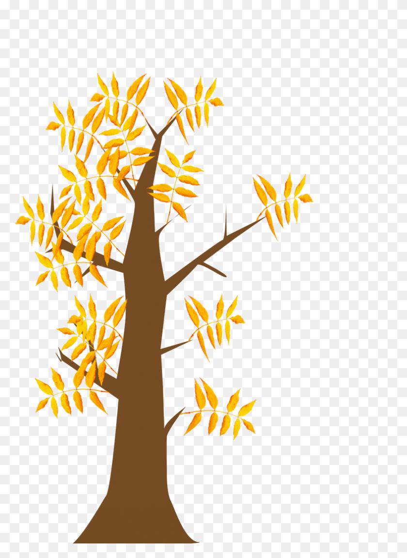 Autumn Clipart - Raking Leaves Clipart
