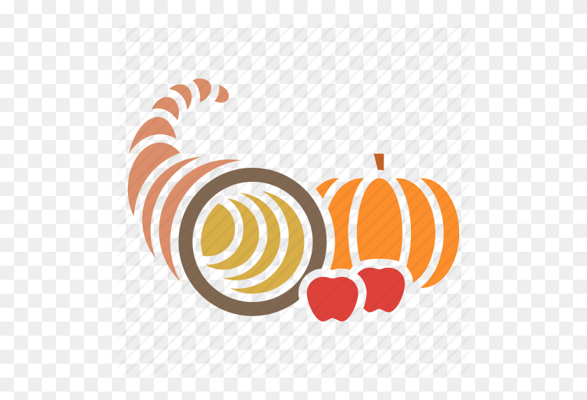Autumn, Cornucopia, Food, Fruits, Harvest, Plenty, Thanksgiving Icon - Thanksgiving Cornucopia Clipart