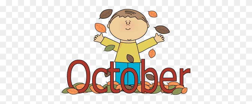 430x289 Autumn October Month Clip Art - Months Clipart