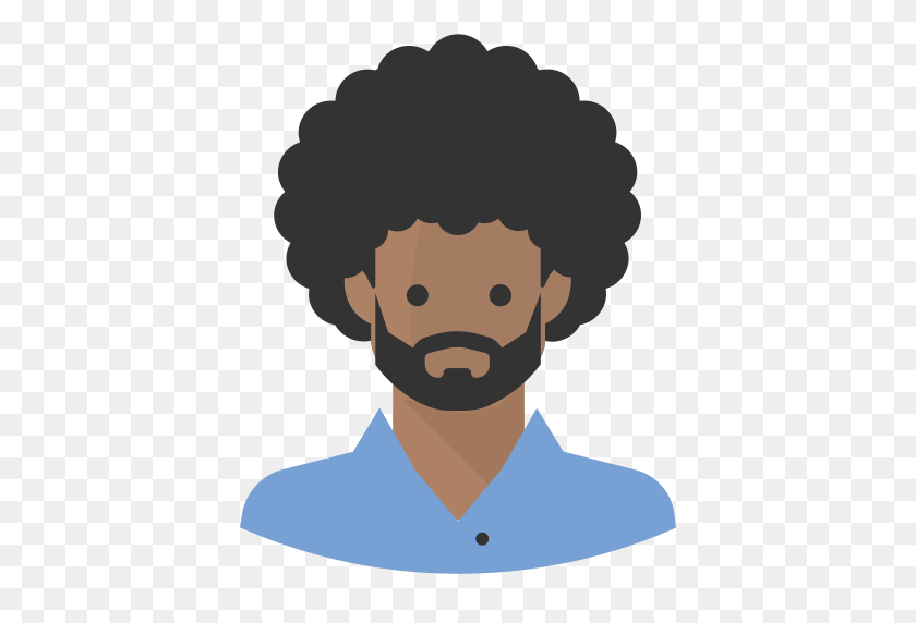 Avatar Afro Black Man Beard, Afro, Avatar Icon With Png And Vector - Afro PNG