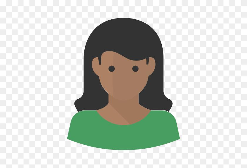 Avatar Black African American Woman, African American, Avatar Icon - Woman Icon PNG