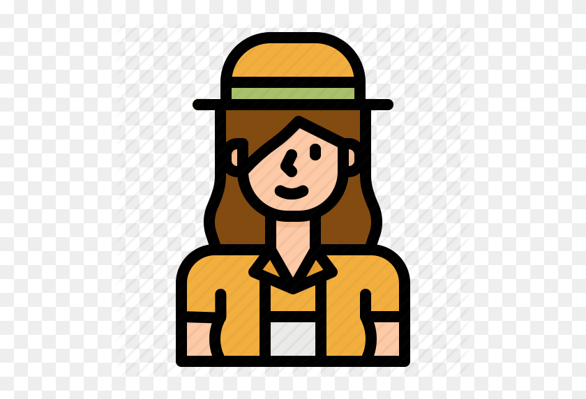 Avatar, Girl, Guide, People, Profile, Tourist, Woman Icon - Tourist PNG