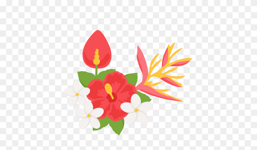 Awesome Tropical Flower Clipart Tropical Free Hawaiian Clip Art - Tropical Flowers PNG