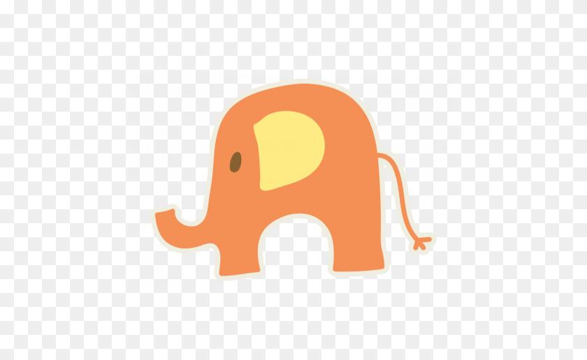 456x456 Baby Baby Elephant Orange Graphic - Baby Elephant PNG